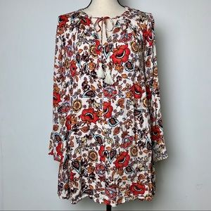 Molly Green Boutique Floral Tunic Swing Dress (S)